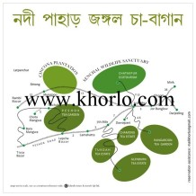 This is a Tourist Map who atr interested in Darjeeling Tea Tourism