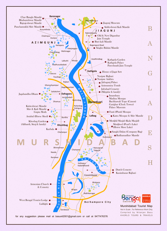 Murshidabad Tourist Map