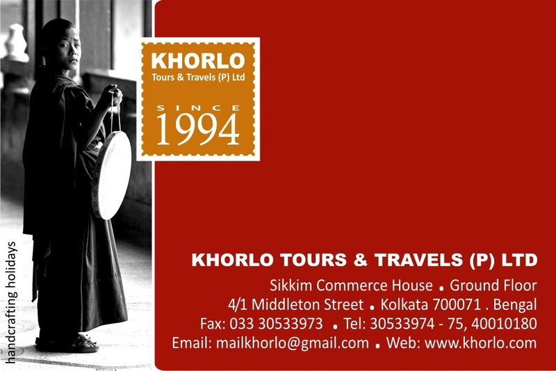 Khorlo Tours & Travels Card 2017 Front