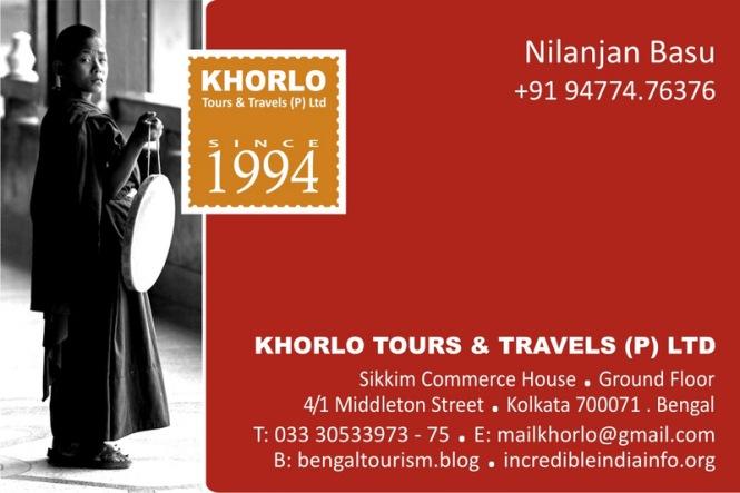 Khorlo Tours & Travels Card 2018 Front- Nilanjan